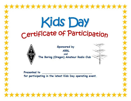Kids day certificate 2